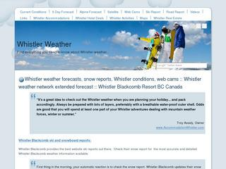 Whistler Weather Forecasts at www.WhistlerCanadaWeather.com