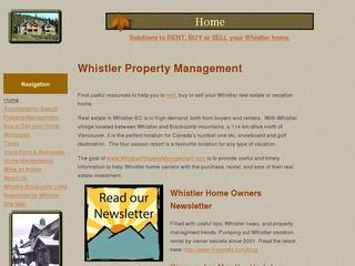 Whistler Property Management for owners and guests www.WhistlerPropertyManagement.com