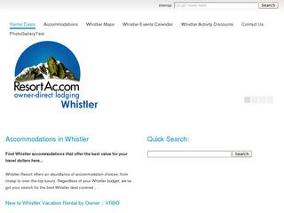 Accommodations in Whistler Resort :: Whistler Events Calendar :: Cheapest Whistler Lift Ticket Deals