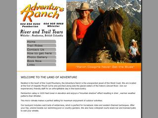 Adventure Ranch ::  Pemberton BC  ::  Horseback Riding