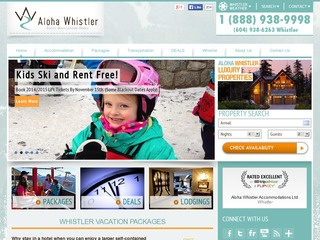 Aloha Whistler Accommodations and Vacation Packages