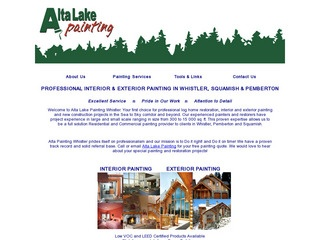 Alta Lake Painting :: Whistler Services :: Construction & Trades