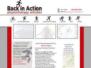 Back In Action Sports Physiotherapy :: Whistler Healthcare :: Massage & Medicine