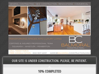 Balmoral Construction Inc. :: Whistler Services :: Construction & Trades