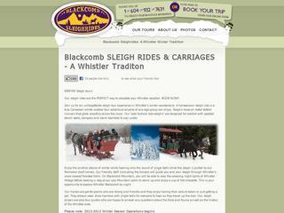 Blackcomb Sleigh Rides :: Whistler :: Horse Drawn Tours