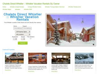 Whistler Chalets Directory