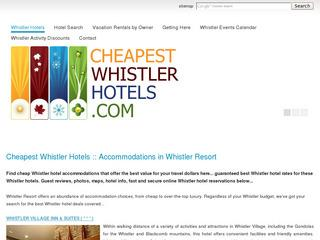 Cheapest Whistler Hotels :: Guaranteed Lowest Prices, 100's of Reviews