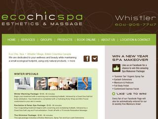 Eco Chic Spa Whistler :: Whistler Village :: Esthetics & Massage