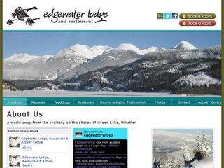 Edgewater Restaurant :: Whistler Alpine Meadows :: Fine Dining