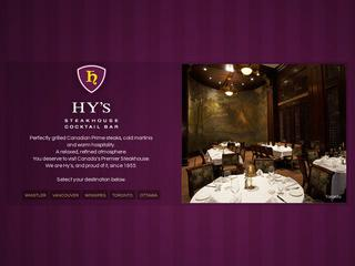Hy's Steakhouse Whistler :: Whistler Village North :: Fine Dining