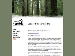 Leader Silviculture Ltd. :: Whistler Services :: Business & Professional
