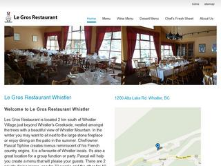 Le Gros Restaurant :: Whistler Creek :: Casual Dining