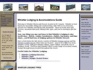 Whistler Lodging Directory with Owner Direct Deals