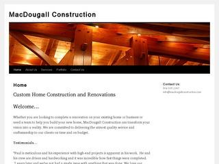 MacDougall Construction :: Whistler Services :: Construction & Trades