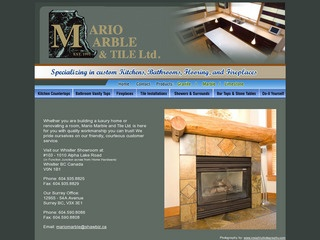 Mario Marble & Tile Ltd. :: Whistler Services :: Construction & Trades