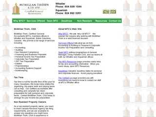 McMillan Thorn & Co. Ltd. :: Whistler Services :: Business & Professional
