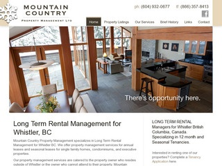 Mountain Country Property Management Ltd. :: Whistler :: Real Estate