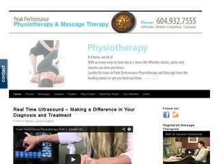 Peak Performance Physical & Massage Therapy :: Whistler Healthcare :: Massage & Medicine