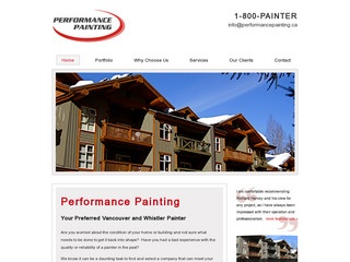 Performance Painting Inc. :: Whistler Services :: Construction & Trades