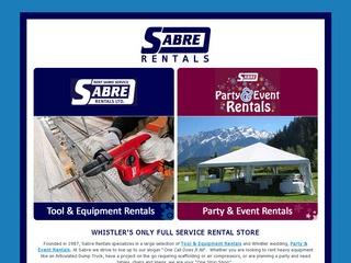 Sabre Rentals Ltd. :: Whistler Services :: Business & Professional