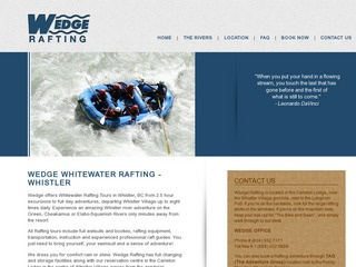 Wedge Rafting :: Whistler Tours :: Activities in Whistler