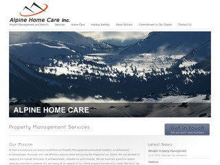 Alpine Home Care Inc. :: Whistler Services :: Property & Commercial